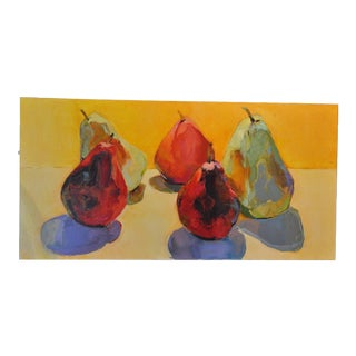 Expressionist Painting of Pears For Sale