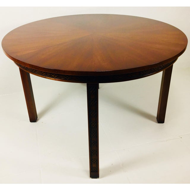 1950s Chippendale Kindel Mahogany Center Table For Sale - Image 11 of 11