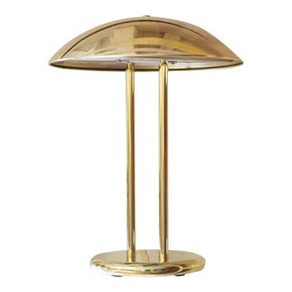 Mid-Century Brass Dome Lamp For Sale