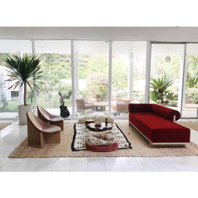 Modern Velvet Chaise Sofa - Image 6 of 7