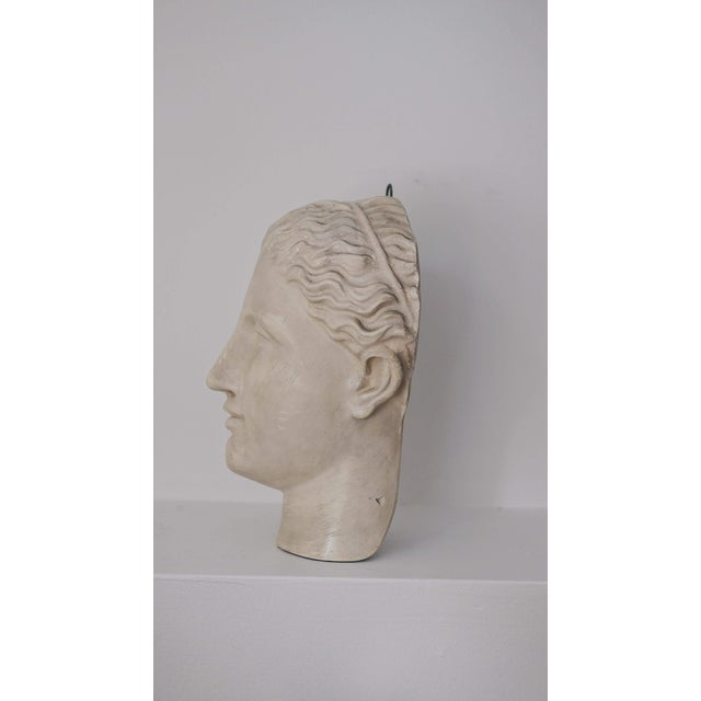 "1900s Caproni & Brothers 1900s Traditional ""Diana of Gabii"" Plaster Mask For Sale - Image 5 of 10"