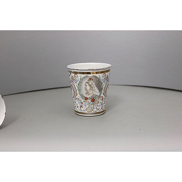 Cottage 1897 Queen Victoria Enamel Beaker For Sale - Image 3 of 5
