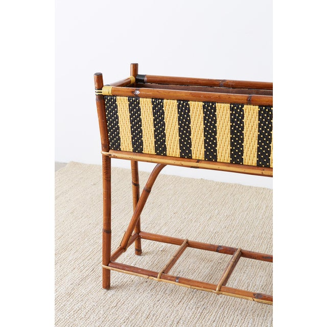 French Maison Gatti Bamboo Rattan Jardinière Planter For Sale In San Francisco - Image 6 of 13