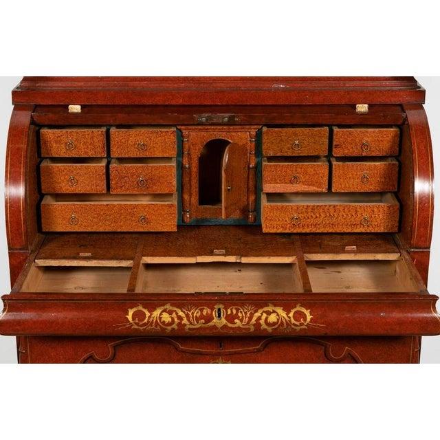 Fine & unusual continental (Probably Austrian or German) Biedermeier style faux bois rouge painted pine & parcel gilt...