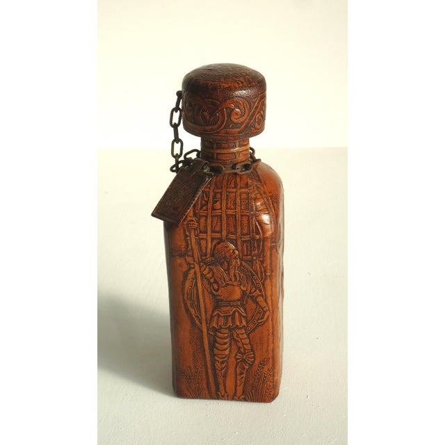 70s Leather Wrapped Spanish Conac Decanter - Image 2 of 5