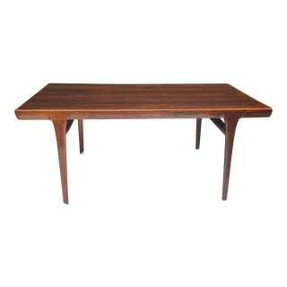 Danish Rosewood Dining Table, Johannes Anderson For Sale