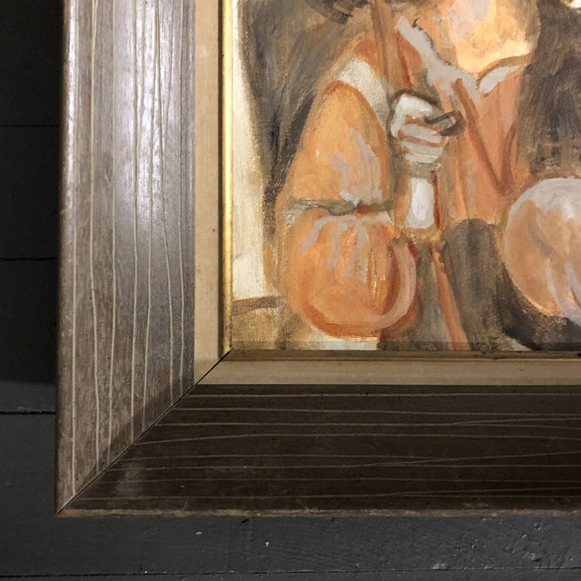 Contemporary Original Vintage Modernist Painting of Angel With Wings For Sale - Image 3 of 5