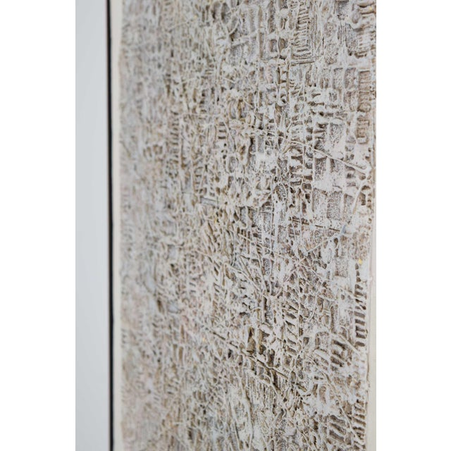 Abstract Brutalist Style Textured Art on Masonite For Sale In Dallas - Image 6 of 10
