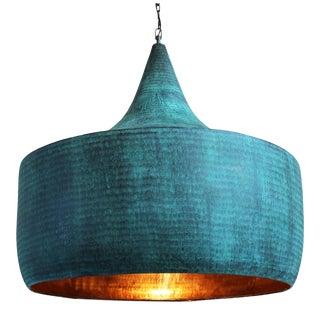 Copper Hammered Hat Lantern XL For Sale