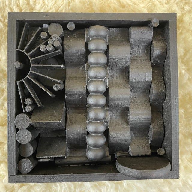 Wood Contemporary Assemblage Sculpture After Louise Nevelson For Sale - Image 7 of 7