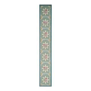 "Pasargad Aubusson Hand-Woven Wool Runner Rug - 2' 2"" X 14' 1"""