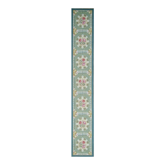 "Pasargad Aubusson Hand-Woven Wool Runner Rug - 2' 2"" X 14' 1"" - Image 1 of 3"