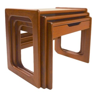 Danish Modern Nesting Tables in Teak Attributed to Dyrlund For Sale