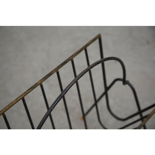 Carl Aubock Style Black Wire Magazine Rack - Image 8 of 9