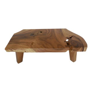 Live Edge Organic Modern Albezia Table For Sale