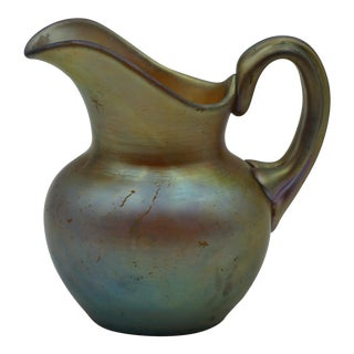 1904 Frederick Carder for Steuben Small Aurene Pitcher For Sale