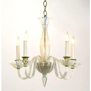 Murano Opaline Glass Five-Arm Empire Style Chandelier Preview