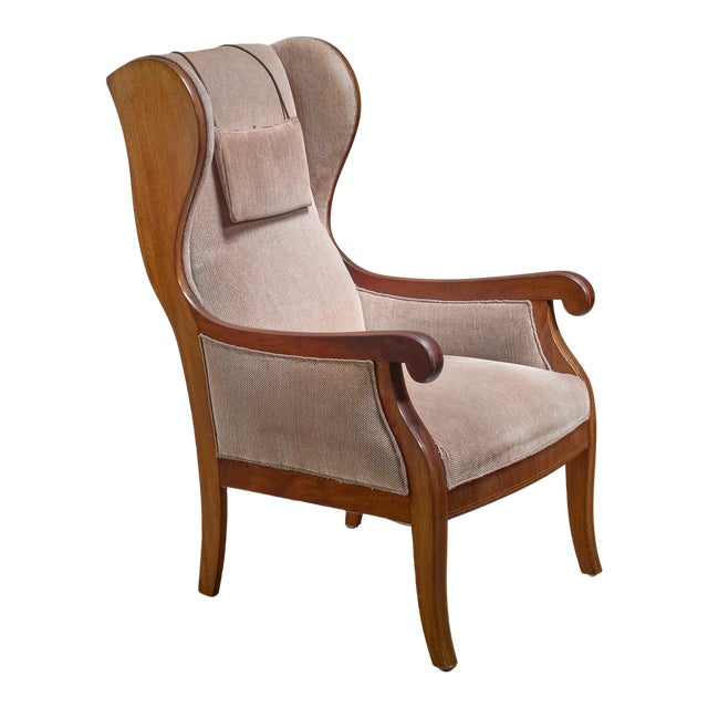 Frits Henningsen Wingback Lounge Chair, Denmark For Sale