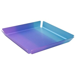 Limited Edition Art Basel Anodized Aluminum Serving/Bar Tray For Sale