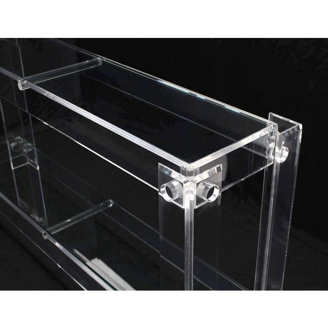 Early 20th Century Three-Tier Long Lucite Console Table For Sale - Image 5 of 10