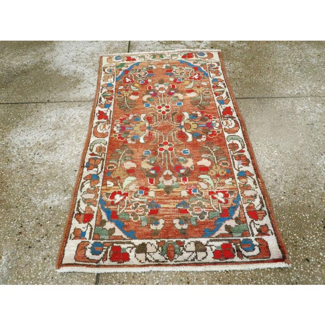 "Textile Vintage Persian Hamadan Rug - Size: 2' 1"" X 3' 8"" For Sale - Image 7 of 9"