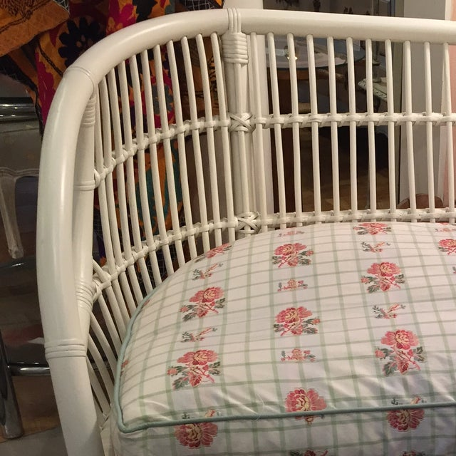 White Rattan Love Seats - A Pair - Image 7 of 8