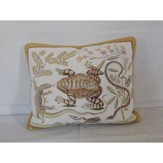 Chelsea Textiles Amphibian Tapestry Pillow - Image 2 of 4