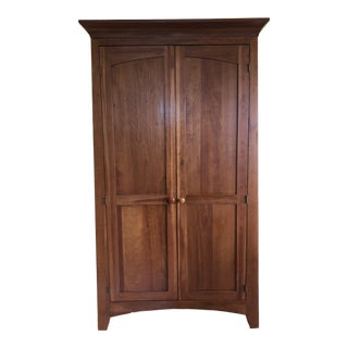 Ethan Allen New Impressions Shaker Style Solid Cherry Armoire For Sale