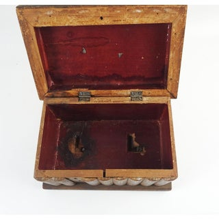 Antique Folk Art Wood Box in Shape of Books Preview