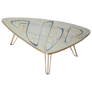 Vintage Triangle Coffee Table Attributed Berthold Müller For Sale