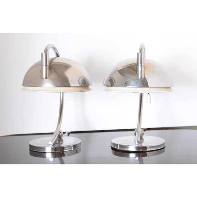 Pair of Machine Age Art Deco Articulating Table Lamps For Sale - Image 9 of 11