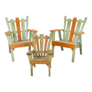 Family Set of Adirondack Chairs