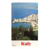 "Image of Vintage Mid Century ""Alitalia Trapani Sicily"" Italian Travel Poster For Sale"