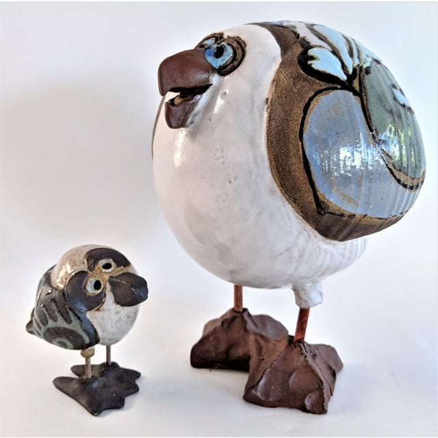 1980s Mid Century Modern Studio Pottery Seagull Sculptures - 2 Pieces For Sale - Image 13 of 13