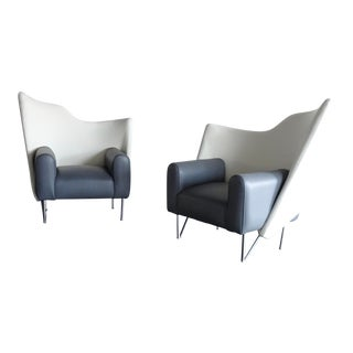 1980s Torso Chairs Style of Deganello - a Pair For Sale