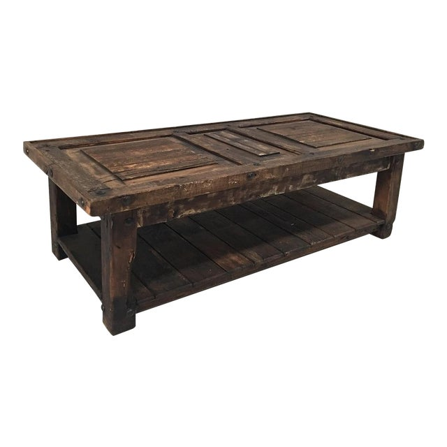 Rustic Wooden Coffee Table - Image 1 of 8
