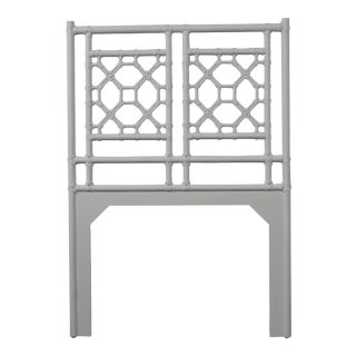 Lattice Back Headboard Twin - Light Gray For Sale