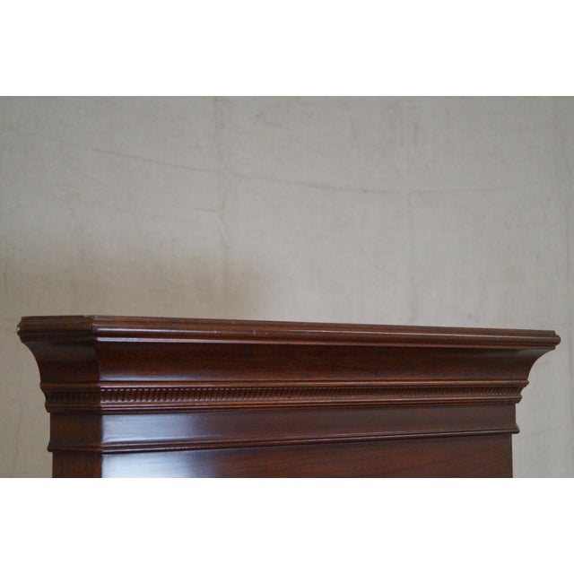 Ethan Allen Georgian Court Solid Cherry Narrow Corner Cabinets - a Pair - Image 6 of 10