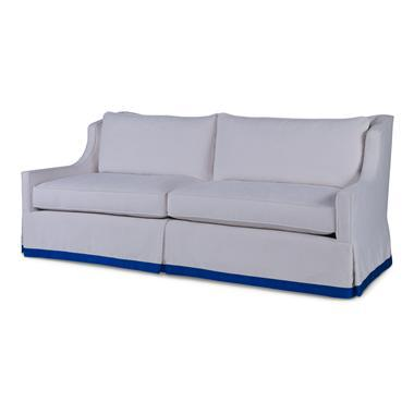 Transitional Century Furniture Sienna Skirted Sofa For Sale - Image 3 of 3