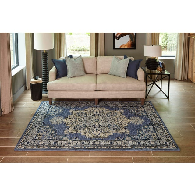 Textile Ibiza Denim Hand Tufted Area Rug 3' X 5' For Sale - Image 7 of 8