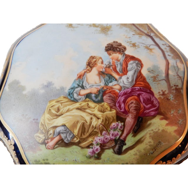 19th-C French Porcelain Dresser Box - Image 4 of 10