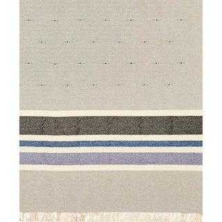 Schumacher Patterson Flynn Martin Modesto Hand-Woven Cotton Wool Striped Rug - 9'10''x13'2'' For Sale