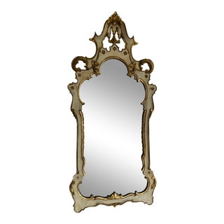 1920s Painted Italian Wall Mirror For Sale