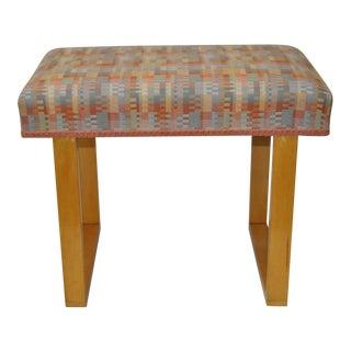 Frank Lloyd Wright Style Maple Vanity Bench