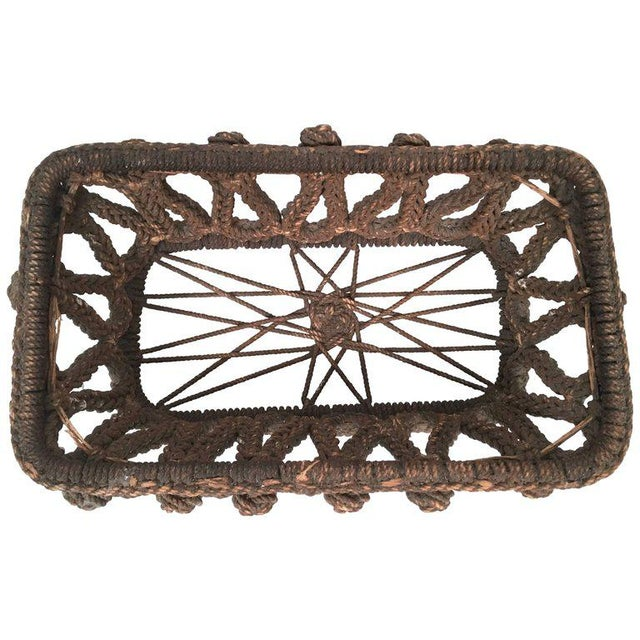 19th Century Sailor Made Ropework Basket For Sale - Image 10 of 10
