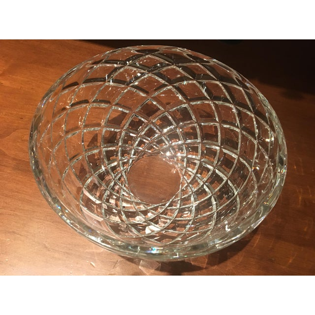Tiffany and Co. Tiffany Diamond-Cut Crystal Bowl For Sale - Image 4 of 6