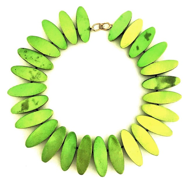Part of a series of jewelry pieces sculptor Mary Oros designed from 1986 to 1990, this necklace is made up of 26 hand...