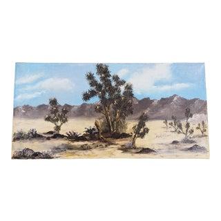 Mid Century Desert Landscape Painting, Signed For Sale