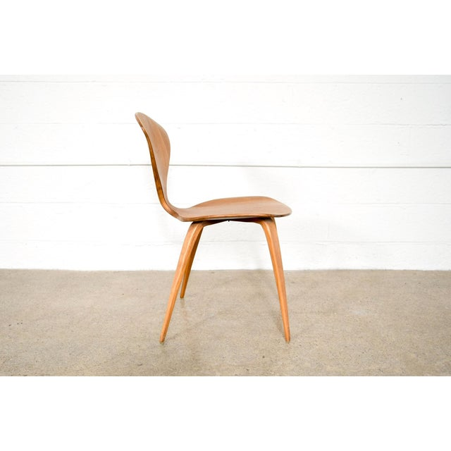 1960s Mid Century Norman Cherner Molded Plywood Side Chair For Sale - Image 5 of 11
