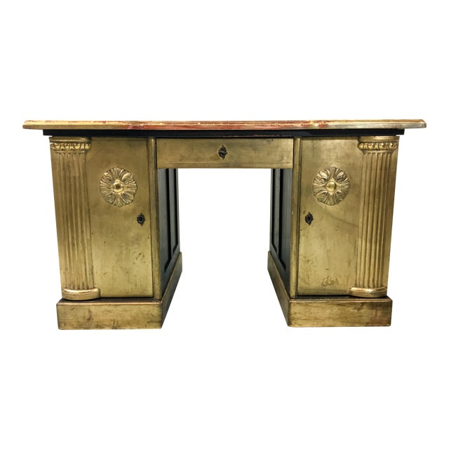 French Neo-Classical Style Gold Leaf Desk - Image 1 of 10